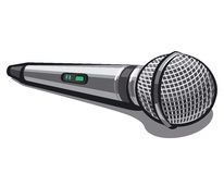 Modern plugged microphone Royalty Free Stock Photos