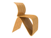 Modern Plywood Chair Stock Photo