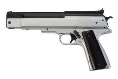 Modern pneumatic gun on white Royalty Free Stock Photography