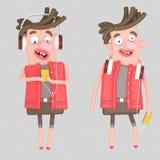 modern pojke illustration 3d vektor illustrationer