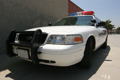 Modern police car stock photo