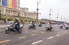 Modern police motorbikes Royalty Free Stock Photos