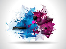 Modern poligonal background for brochure and covers Royalty Free Stock Photos