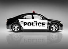 modern polisbil för sport 3D Fotografering för Bildbyråer