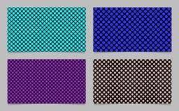 Modern polka dot business card background set - vector company design Stock Photography