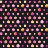 Modern polka dot seamless pattern, Stock Photography