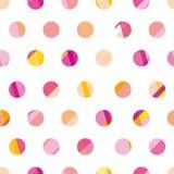 Modern polka dot seamless pattern, concept surface design  Royalty Free Stock Photo