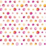 Modern polka dot seamless pattern, Royalty Free Stock Photography