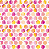 Modern polka dot seamless pattern, Royalty Free Stock Images