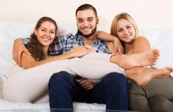 Modern polygamous family Stock Photo