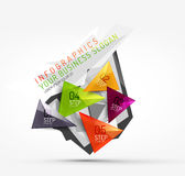 Modern polygonal origami paper infographics Stock Image