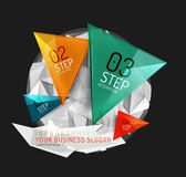 Modern polygonal origami paper infographics Royalty Free Stock Photos