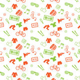 Modern pop elements seamless pattern Royalty Free Stock Photos