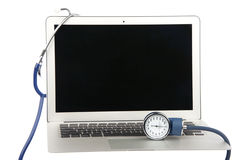 Modern popular laptop pc diagnostics Stock Photo