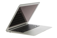 Modern popular laptop thin Stock Photography