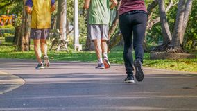Modern populations are interested in exercising such as running. royalty free stock photo