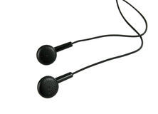 Modern portable audio earphones, Stock Images