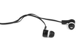Modern portable audio earphones Stock Photos