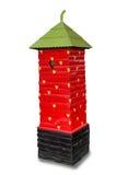 Modern postbox av jordgubben Arkivfoton