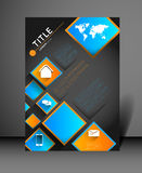 Modern poster design template Stock Image