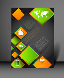 Modern poster design template Royalty Free Stock Photo