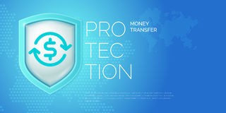 Modern poster fund transfer and their protection. Stock Photos