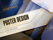 Modern poster template design Royalty Free Stock Images