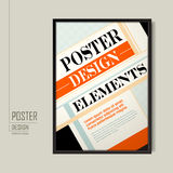 Modern poster template design vector illustration