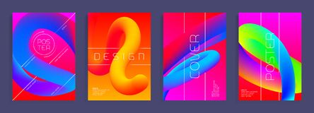 Modern poster templates. Abstract vector backgrounds with colorful shapes. Cover, brochure trendy design Royalty Free Stock Photo