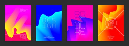 Modern poster templates. Abstract vector bright backgrounds with colorful shapes. stock illustration