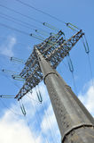 Modern power line. Energy issues Royalty Free Stock Photos