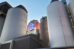 Silos from power plant Royalty Free Stock Images