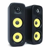 Modern power sound speakers Stock Photo