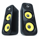 Modern power sound speakers Stock Image