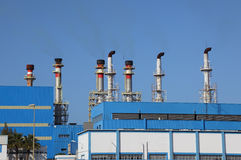 Modern power station Royalty Free Stock Photos