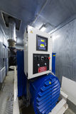 Modern powerful diesel generator Stock Photos