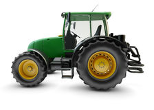 Modern powerful green farm tractor Stock Photography