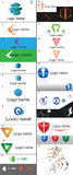 Different types of modern logos, with clean design stock photos