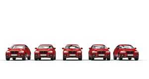 Modern Powerful Red Cars Stock Photography