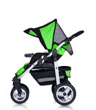 Modern pram isolated against a white background Stock Photos