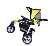 Modern pram isolated against a white background Royalty Free Stock Image