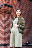 Modern pregnant woman stock photo