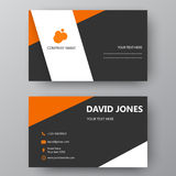 Modern presentation card with company logo. Vector business card. Vector business card template. Visiting card for business and personal use. Modern presentation royalty free illustration