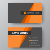 Modern presentation card with company logo. Vector business card. Vector business card template. Visiting card for business and personal use. Modern presentation Royalty Free Stock Photography