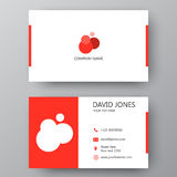 Modern presentation card with company logo. Vector business card. Vector business card template. Visiting card for business and personal use. Modern presentation vector illustration