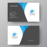 Modern presentation card with company logo. Vector business card. Vector business card template. Visiting card for business and personal use. Modern presentation Royalty Free Stock Photo