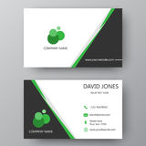 Modern presentation card with company logo. Vector business card Stock Photo