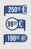 Modern price tag � euro Stock Photography