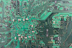 Modern printed-circuit board macro background Royalty Free Stock Photography