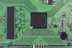 Modern Printed-circuit Board Macro Background Royalty Free Stock Photo